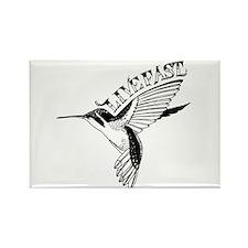 Hummingbird Live Fast Rectangle Magnet