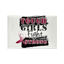 Tough Girls Head Neck Cancer Rectangle Magnet