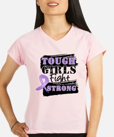 Tough Girls Fight Strong Cancer Performance Dry T-