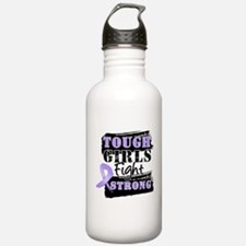 Tough Girls Fight Strong Cancer Water Bottle
