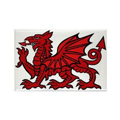 Red Welsh Dragon Rectangle Magnet (100 pack)