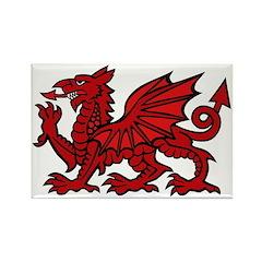 Red Welsh Dragon Rectangle Magnet