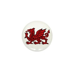 Red Welsh Dragon Mini Button (100 pack)