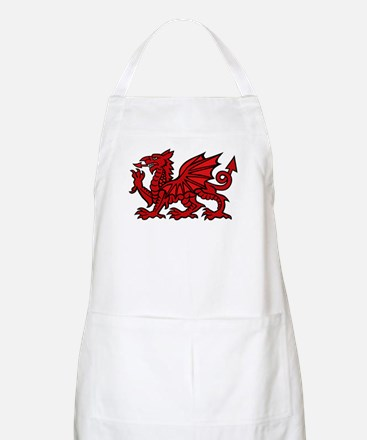 Red Welsh Dragon BBQ Apron