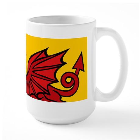 Red Welsh Dragon Large Mug
