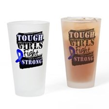Tough Girls Colon Cancer Drinking Glass