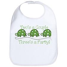 Threes A Party Bib