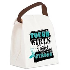 Tough Girls Cervical Cancer Canvas Lunch Bag