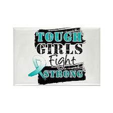 Tough Girls Cervical Cancer Rectangle Magnet
