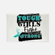 Tough Girls Cervical Cancer Rectangle Magnet (100
