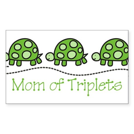 Mom Of Triplets Sticker (Rectangle)