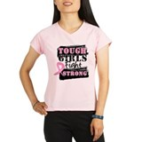 Tough girls fight strong pink ribbon Tops