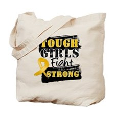Tough Girls Appendix Cancer Tote Bag