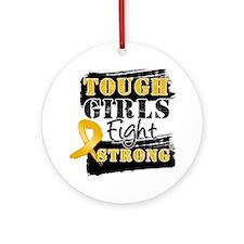 Tough Girls Appendix Cancer Ornament (Round)