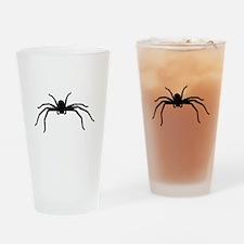 Spider silhouette Drinking Glass