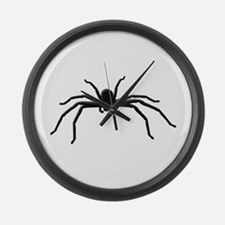 Spider silhouette Large Wall Clock
