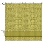 Gold Pattern Shower Curtain
