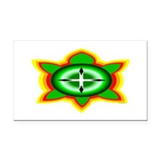 SOUTHEASTERN TRIBAL TURTLE Rectangle Car Magnet