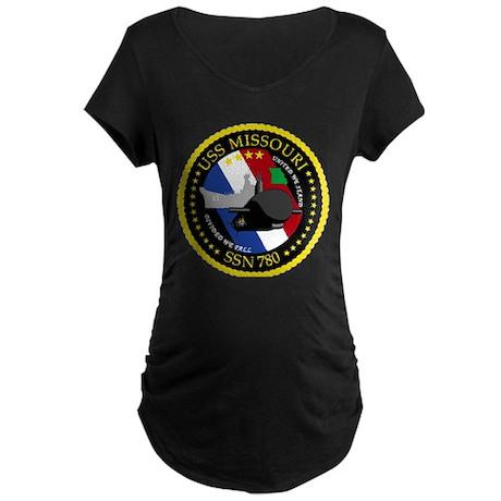 USS Missouri SSN 780 Maternity Dark T-Shirt