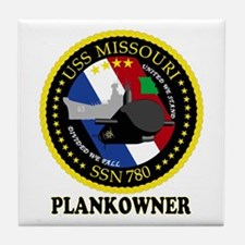 PLANKOWNER SSN 780 Tile Coaster