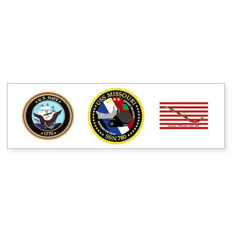 USS Missouri SSN 780 Sticker (Bumper)