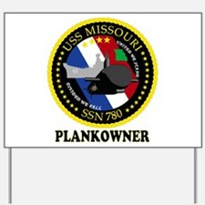 PLANKOWNER SSN 780 Yard Sign