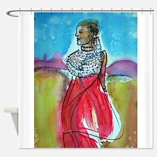 Africian tribal woman, art! Shower Curtain