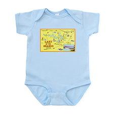 Lake of the Ozarks Map Infant Bodysuit