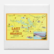 Lake of the Ozarks Map Tile Coaster