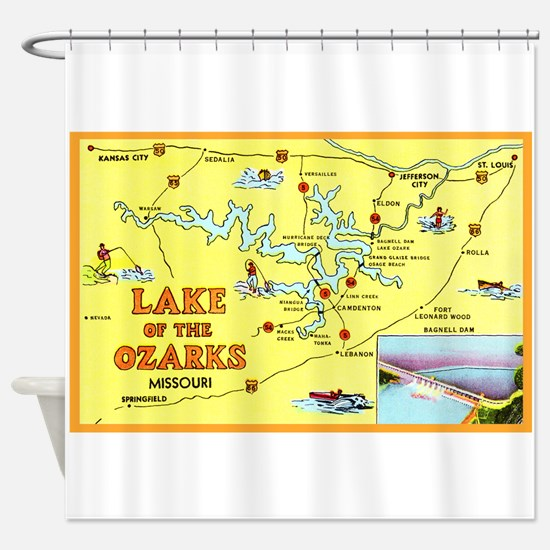 Lake of the Ozarks Map Shower Curtain