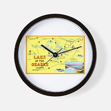 Lake of the Ozarks Map Wall Clock
