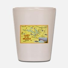 Lake of the Ozarks Map Shot Glass