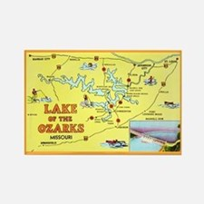 Lake of the Ozarks Map Rectangle Magnet