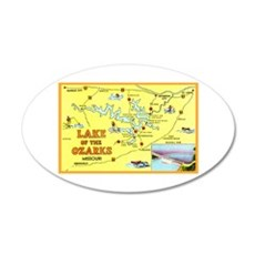 Lake of the Ozarks Map Wall Decal