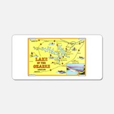 Lake of the Ozarks Map Aluminum License Plate