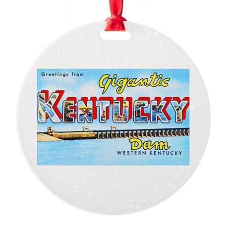 Gigantic Kentucky Dam Round Ornament