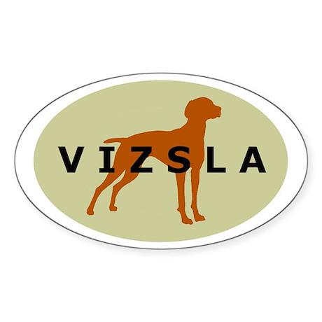 vizsla dog Oval Sticker