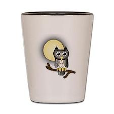 Full Moon Owl Shot Glass
