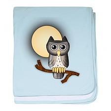 Full Moon Owl baby blanket