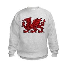 Red Welsh Dragon Sweatshirt