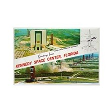 Kennedy Space Center Florida Rectangle Magnet