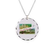 Kennedy Space Center Florida Necklace Circle Charm