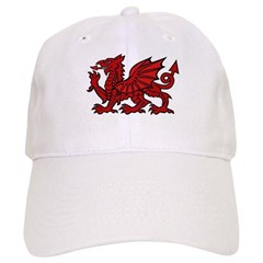 Red Welsh Dragon Baseball Cap