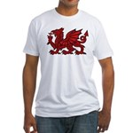 Red Welsh Dragon Fitted T-Shirt