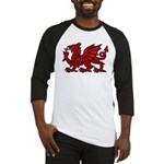 Red Welsh Dragon Baseball Jersey