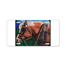Belgian Painting Aluminum License Plate