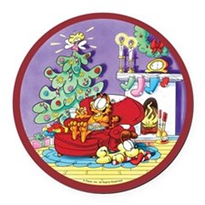 WAITING FOR SANTA! Round Car Magnet
