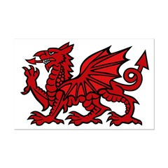 Red Welsh Dragon Posters