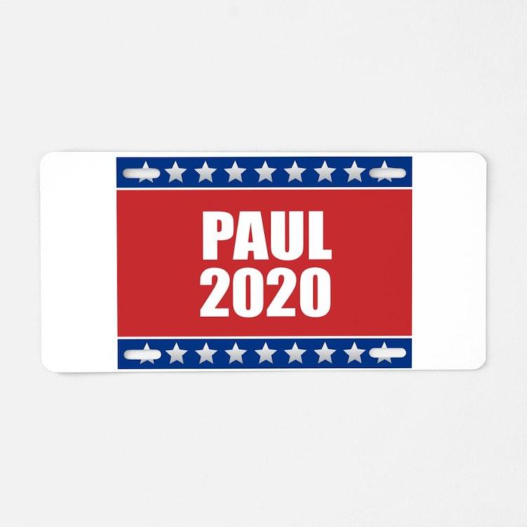 Rand Paul 2020 Aluminum License Plate