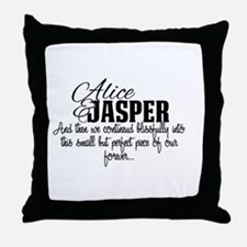 Cool Twilight and alice Throw Pillow